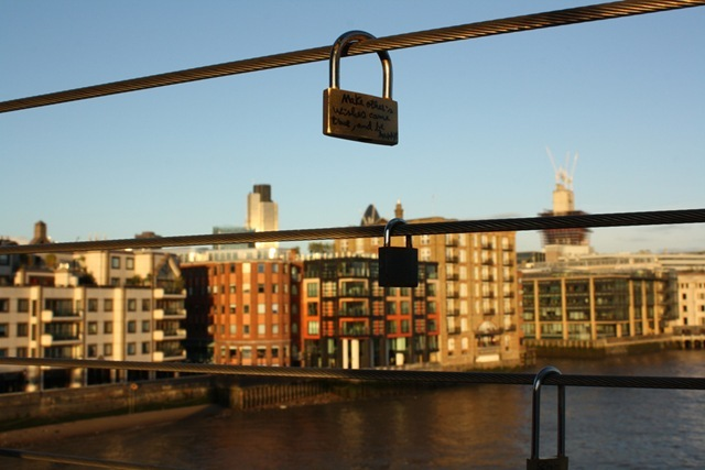 Locks of Love on the Millennium Bridge