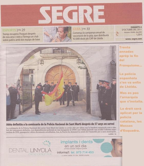 Polícia espanhòla s'en va 1