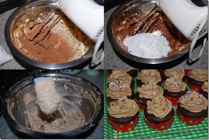 Chocolate cream frosting process