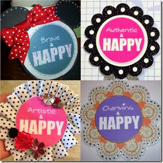 happy button collage