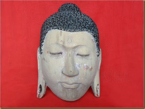 Topeng Budha marked