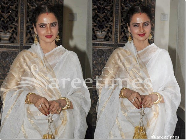 Rekha_White_Silk_Saree(2)