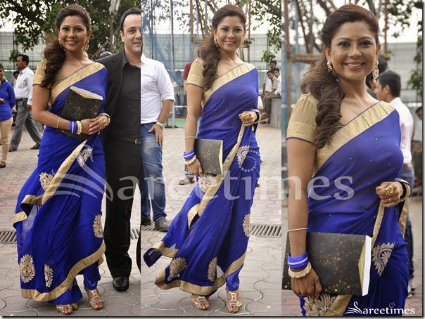 Blue_Embroidery_Saree