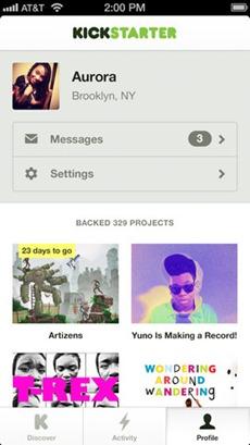 Kickstarter for iPhone2