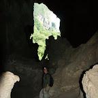 Aussicht aus der Höhle auf halber Höhe