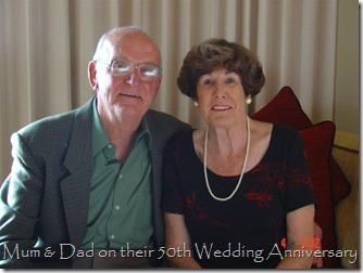 Mum and Dad 50th wedding Anniversary