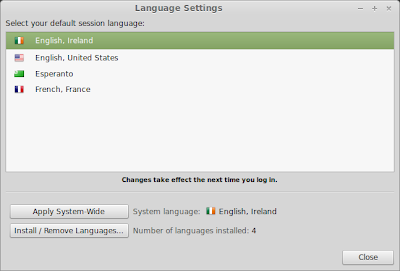 Linux Mint Unified Locale Settings