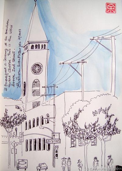 San Francisco sketch © Evelyn Howard 2011