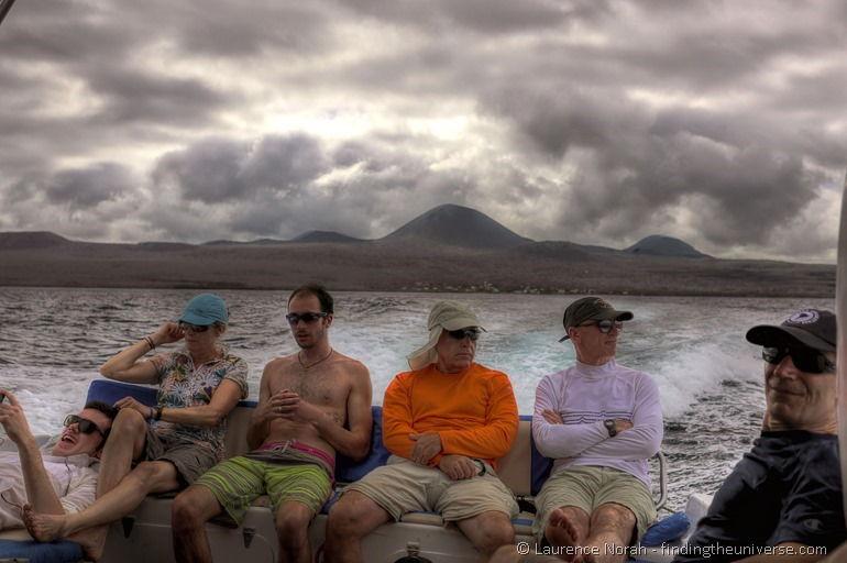 Bootsfahrt zwischen den Inseln, Galapagos