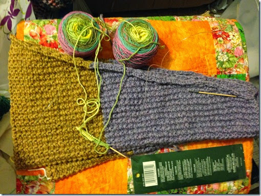 sleeves done & new socks