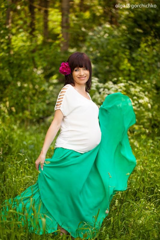 Летняя фотосессия беременности, Илона. Детский фотограф Ольга Горчичко, Гродно