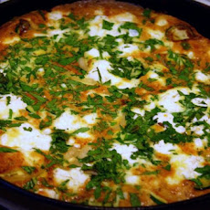 Zucchini Frittata With Lemon-herb Yogurt