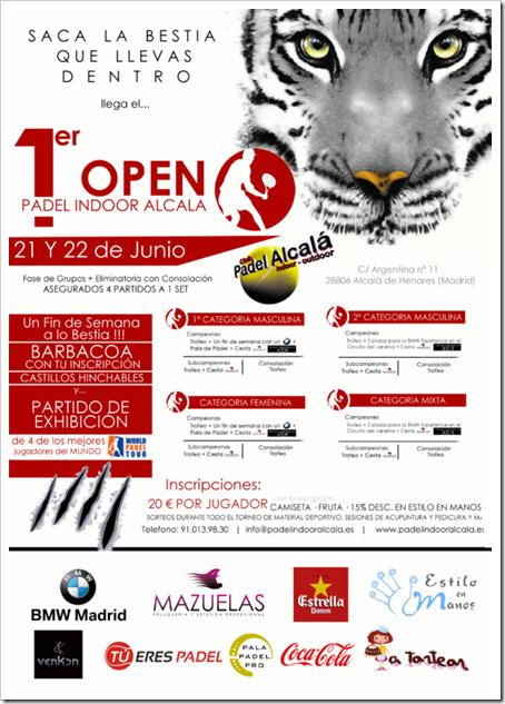 1er Open Club Padel Indoor Alcalá 21 y 22 de junio de 2014.
