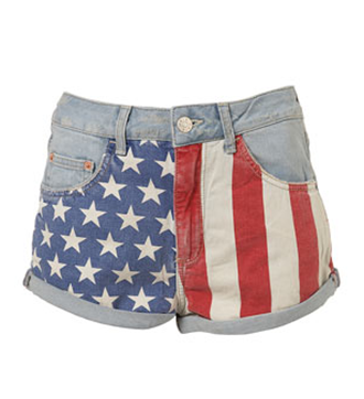 Topshop-Flag-Hotpants-Shorts