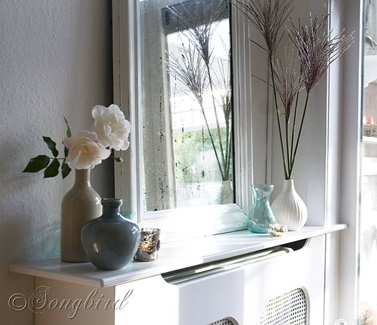 White Living Room Vignette 1