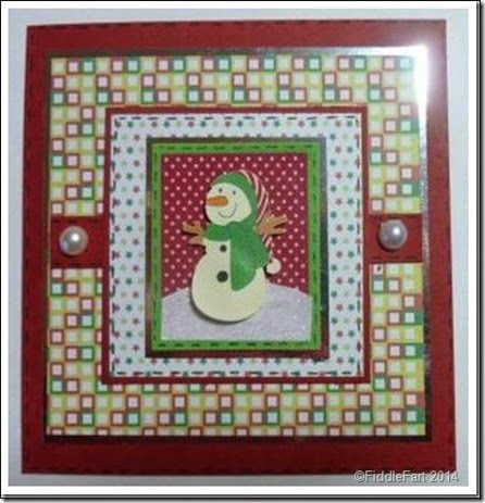 Retro Style Snowman Card 1