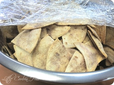 sugared baked tortillas