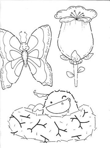 Dibujos de primavera para colorear