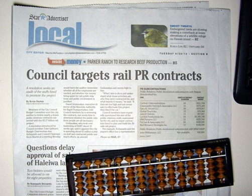 Rail PR cost