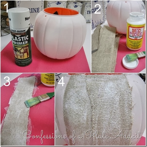 CONFESSIONS OF A PLATE ADDICT  Pumpkin Planter Tutorial