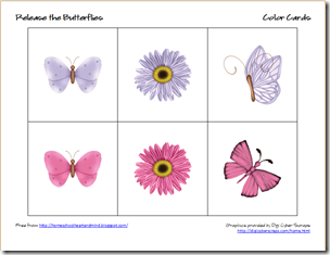butterflies color cards 2