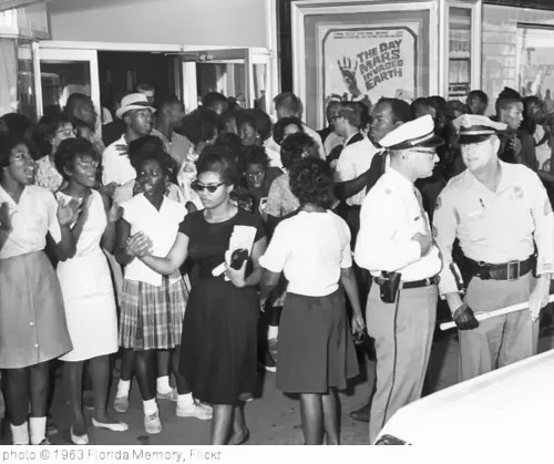 'Civil rights demonstration in front of a segregated theater: Tallahassee, Florida' photo (c) 1963, Florida Memory - license: http://www.flickr.com/commons/usage/