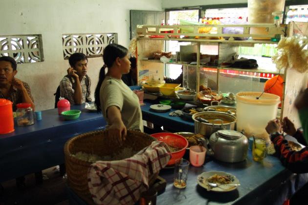 Inside a Warung at Banyuwangi, Indonesia