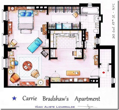 carrie bradshaws apartment