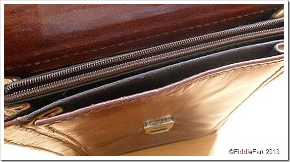 Vintage leather document case