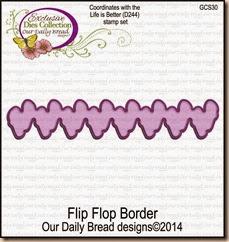 Flip Flop Border Die