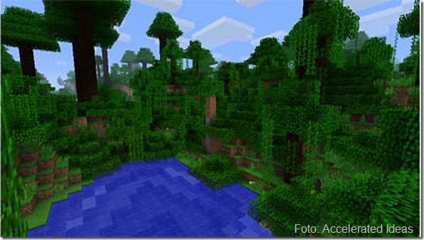 Minecraft, bioma floresta (Accelerated Ideias)