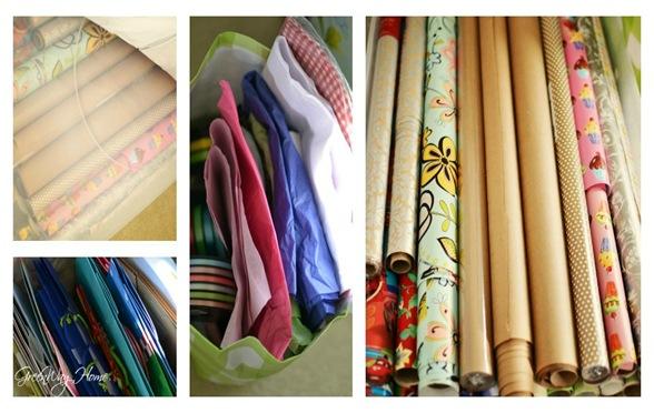 Non holiday wrap organization collage