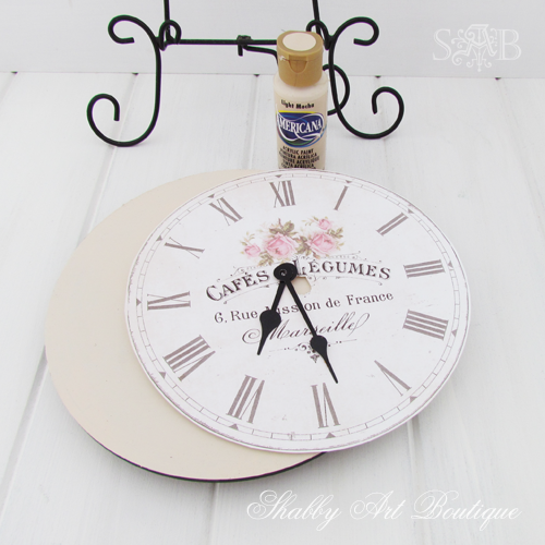 Shabby Art Boutique French clock 3