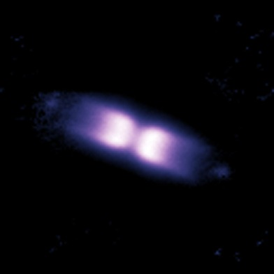 concha ao redor da estrela V445 Puppis