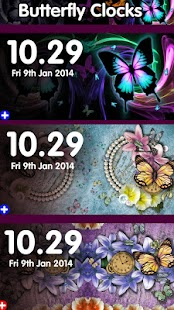 butterfly dream clocks - screenshot