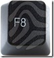 F8 button on keyboard