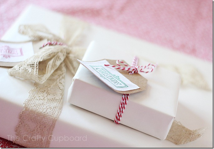 Linen and Brown Paper Gift Tags