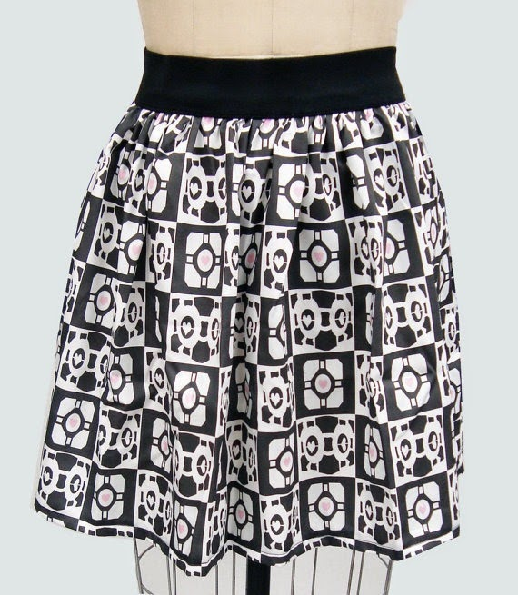 Companion Cube Portal Full Skirt from Go Follow Rabbits
