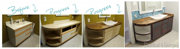 Bathroom Progress! {Sawdust and Embryos}