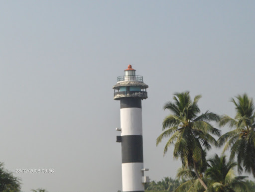 A real light house near the beach