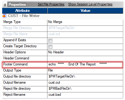 Informatica File Source Target Command Property