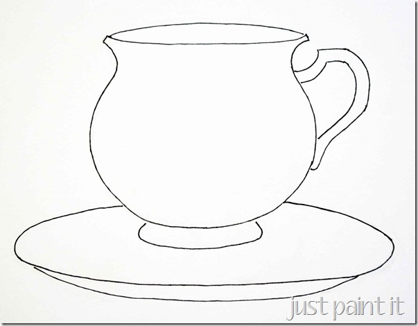Step-by-step: How to Paint a Teacup