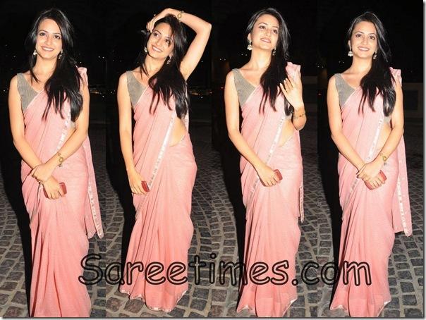 Kriti_Kharbanda_Pink_Designer_Saree