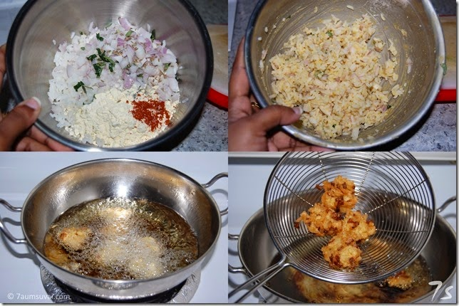 Rice pakoda process