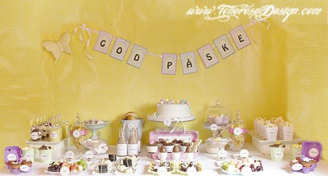 vårlig kakebord i herlige pastellfarger IMG_7506 2