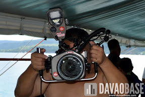 This huge Nikon underwater camera was one of the gadgets used to document the Scubasurero clean up dive in Talicud.