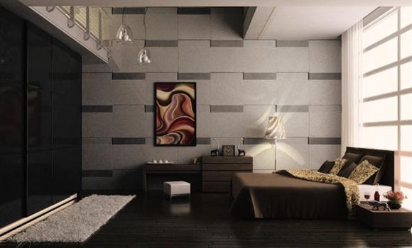 Diseños de dormitorio decorados en colores tierra