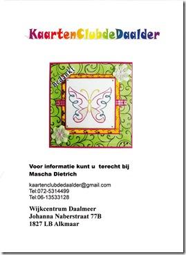 KaartenClubdeDaalder flyer