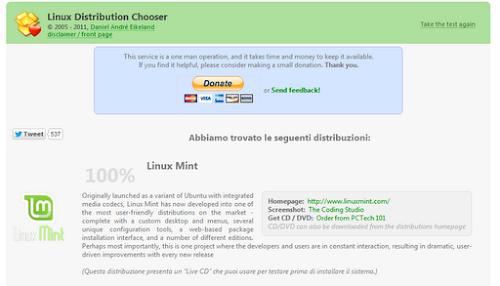 Linux Distribution Chooser