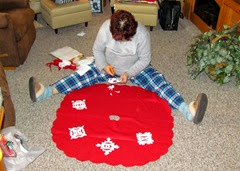 1411201 Nov 24 Barb Making Tree Skirt